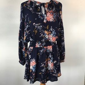 Lucky Brand Navy Floral Dress Small 4/6